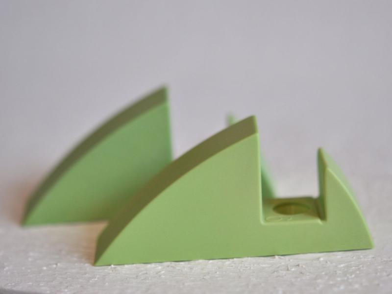 Hyllkonsol pastellgrön 16 mm