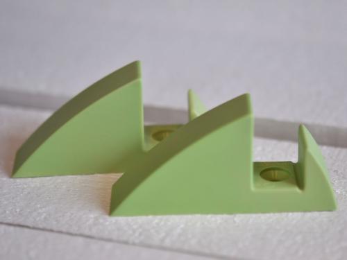Hyllkonsol pastellgrön 19 mm