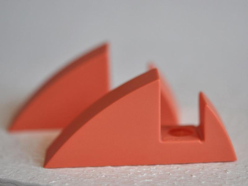 Hyllkonsol pastellröd 16 mm