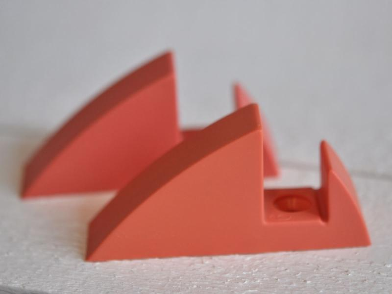 Hyllkonsol pastellröd 19 mm
