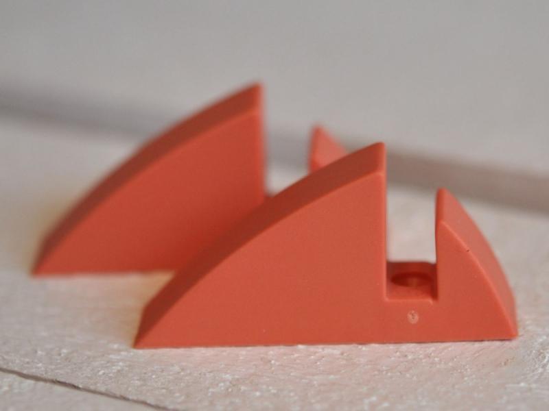 Hyllkonsol pastellröd 8 mm