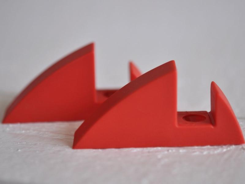Hyllkonsol röd 16 mm