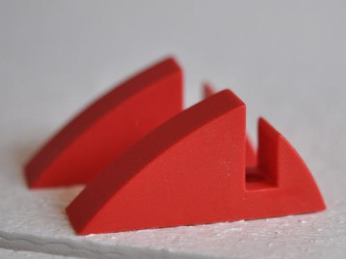 Hyllkonsol röd 8 mm