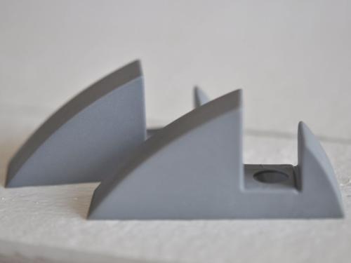 Hyllkonsol silvergrå 16 mm