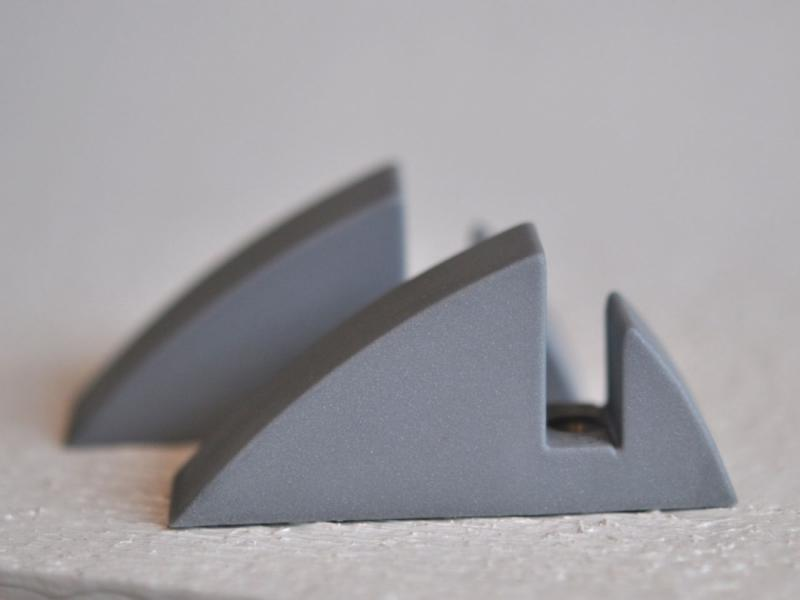 Hyllkonsol silvergrå 8 mm