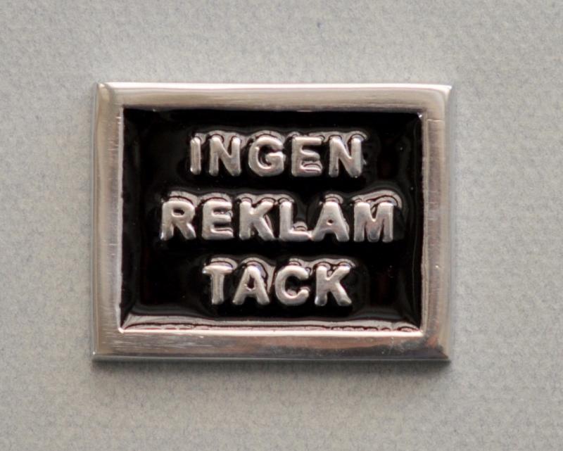 INGEN REKLAM TACK - svart