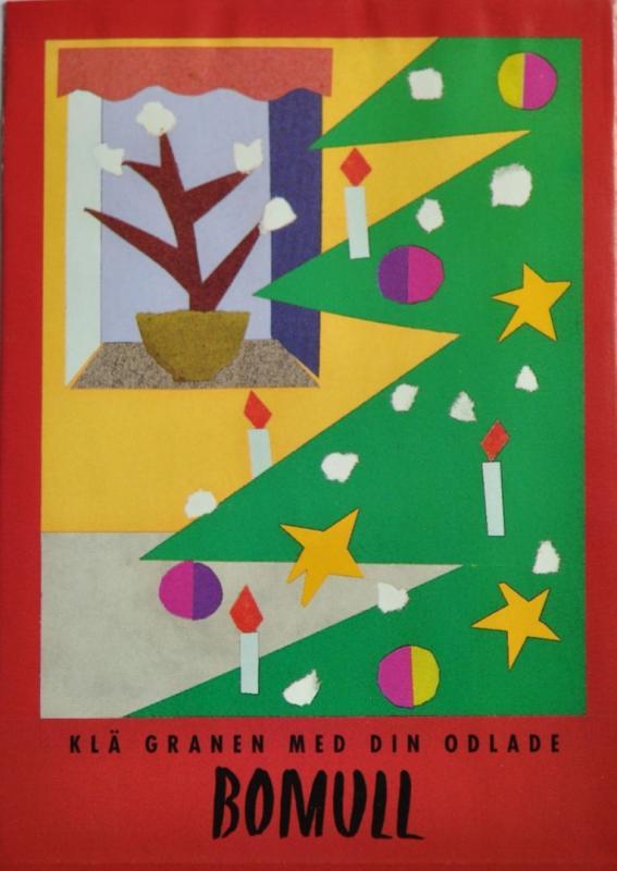 Julkort med frön - Bomull