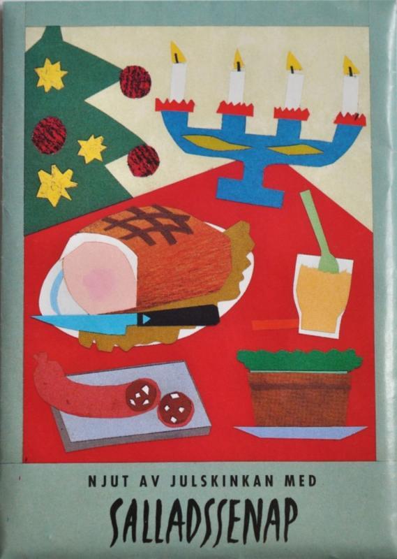 Julkort med frön - Salladssenap