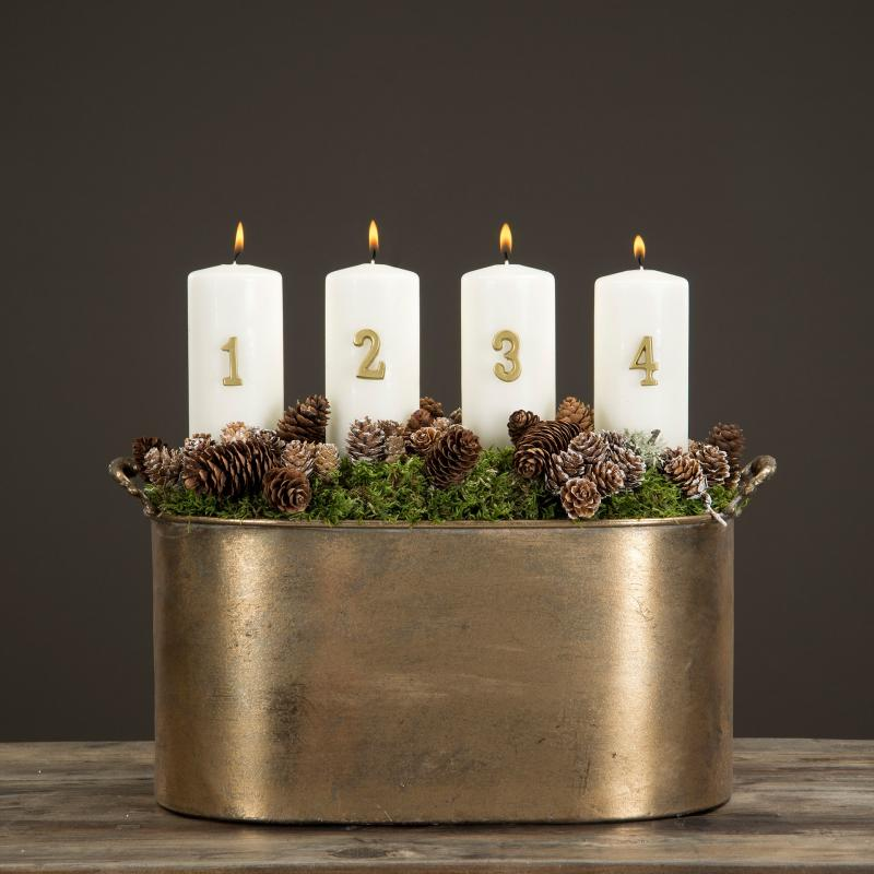 Adventssiffror 1 - 4 - Guld