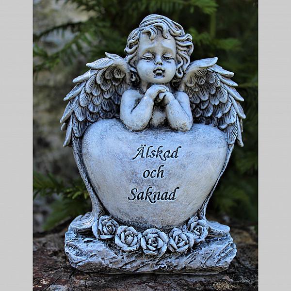 Ängel Med Minnesord - Älskad Och Saknad