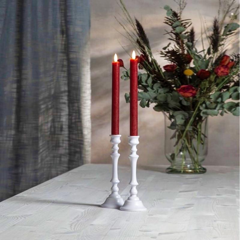 Antikljus Flamme Lång LED 2-pack - Röd