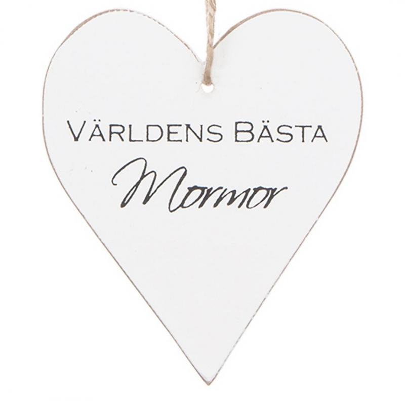 Hjärta - VÄRLDENS BÄSTA MORMOR/FARMOR