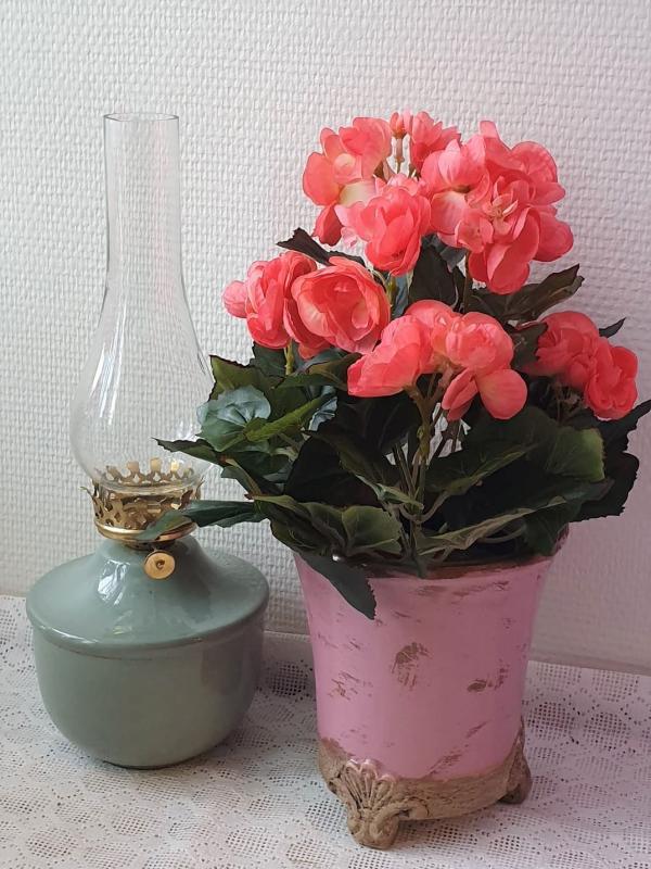 Begonia Orange - Konstväxt - 28 cm