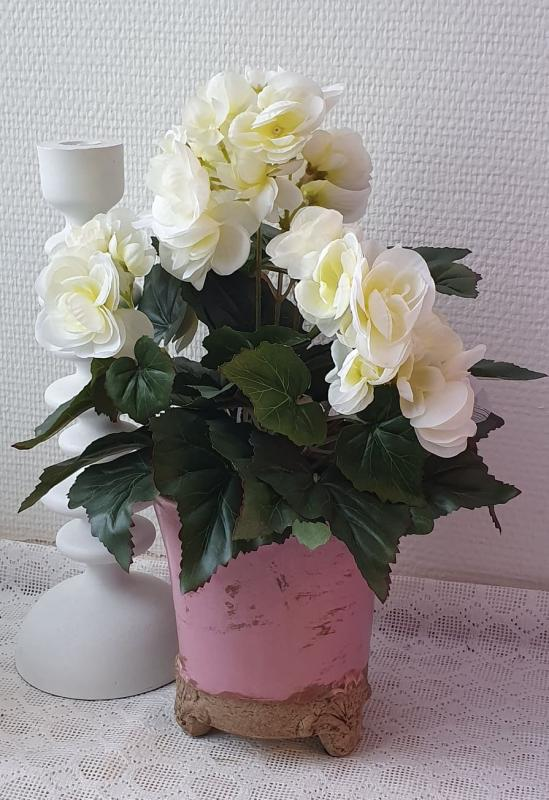 Begonia Vit - Konstväxt - 28 cm