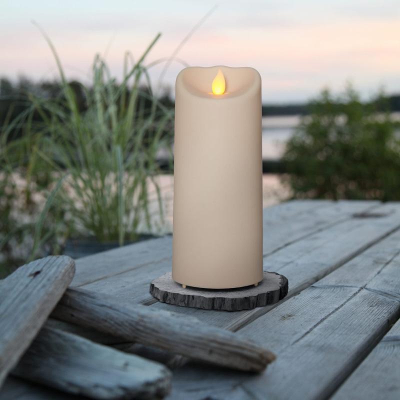 Blockljus LED Utomhus M-Twinkle  Beige