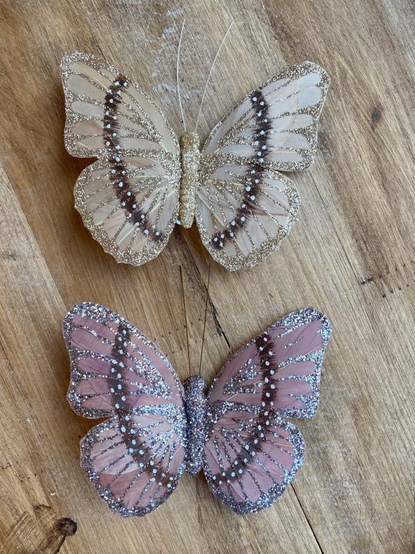 Fjärilar Clips - 2 Pack