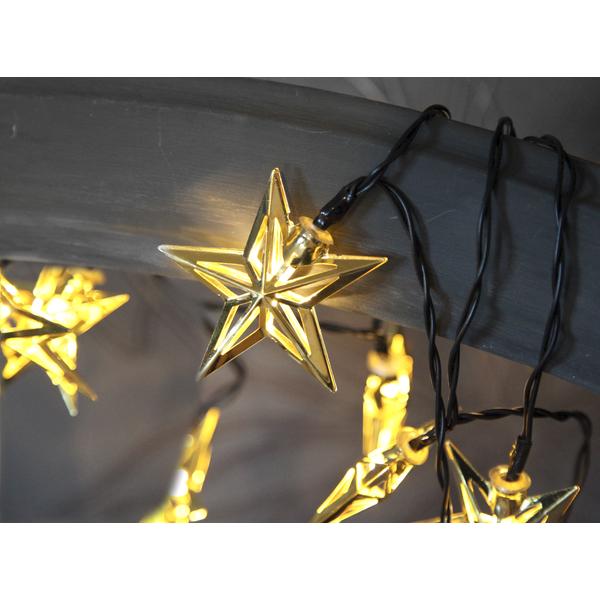 Metallstjärna Ljusslinga Mässing