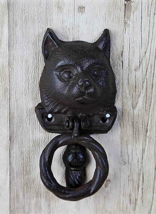 Dörr kläpp Katt I Gjutjärn
