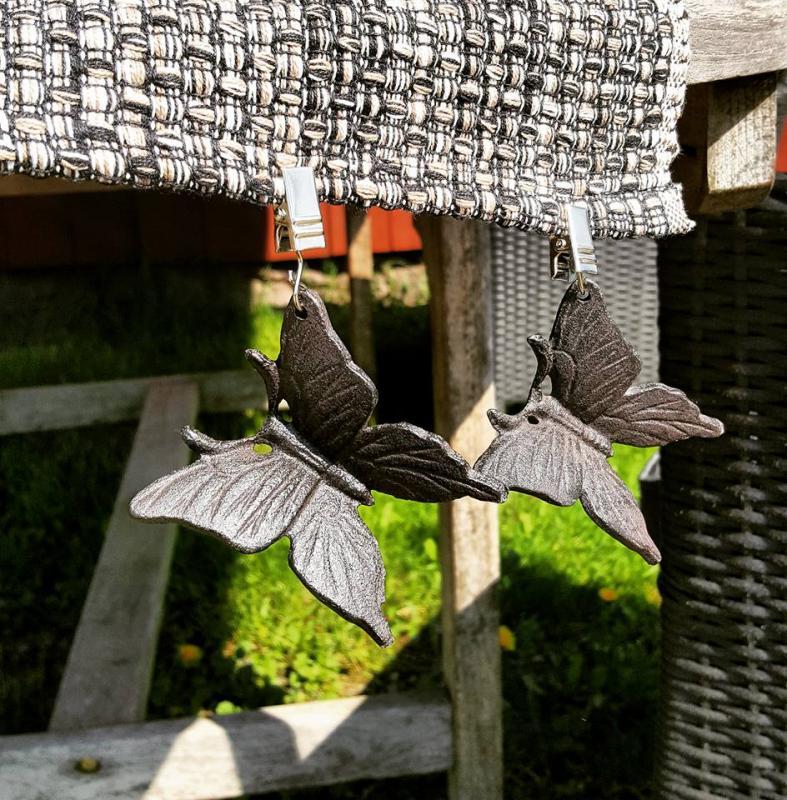 Duktyngder Fjärilar I Gjutjärn 4-pack