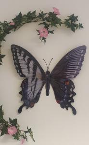 Fjäril Vägg - Grå