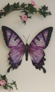 Fjäril Vägg - Lila