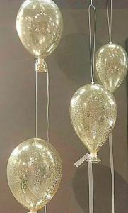 Ballong Glas Old Silver - Small