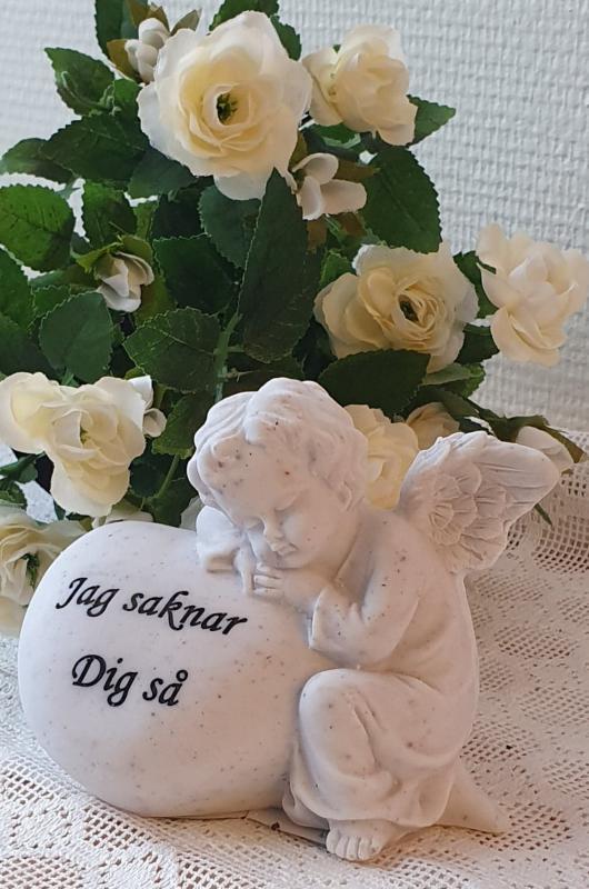 Gravsmyckning Ängel - Jag Saknar Dig Så
