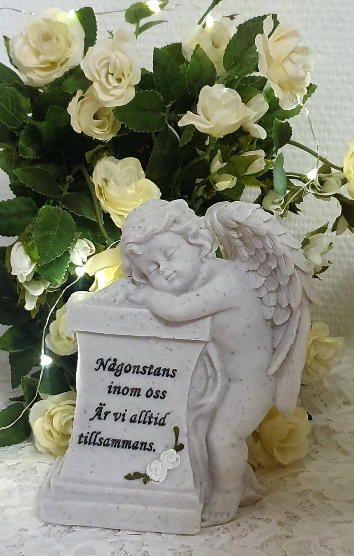 Gravsmyckning Lutande Ängel