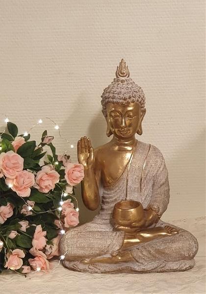 Guld och Vit Thai Buddha