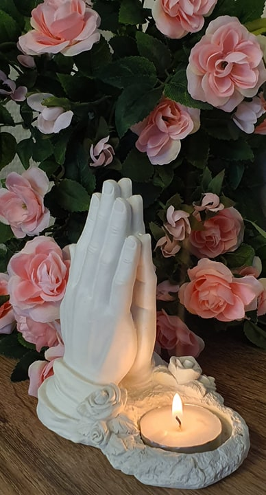 Händer Värmeljushållare