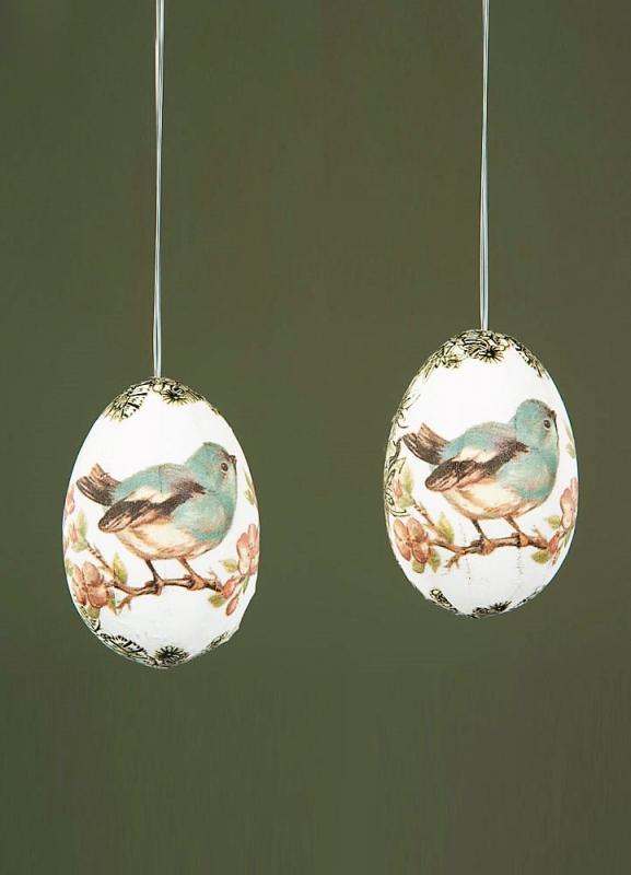 Ägg Häng Vintage Fåglar - 10 Pack
