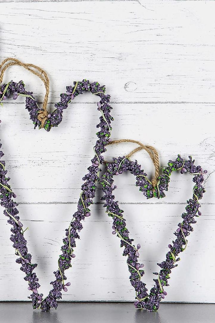 Hängande Hjärta Lavendel - Small