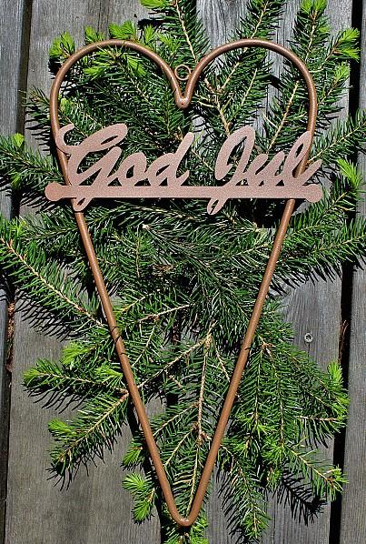 Hjärta God Jul Rost