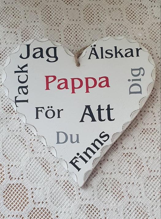 """Hjärta """"Jag Älskar Dig Pappa"""""""