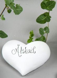 Hjärta Skrivbart Vit