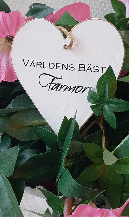 Hjärta - VÄRLDENS BÄSTA FARMOR