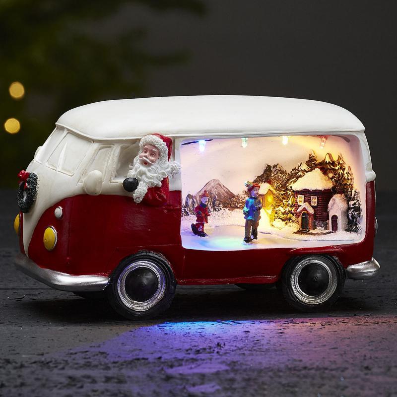 Julbelysning Buss Röd