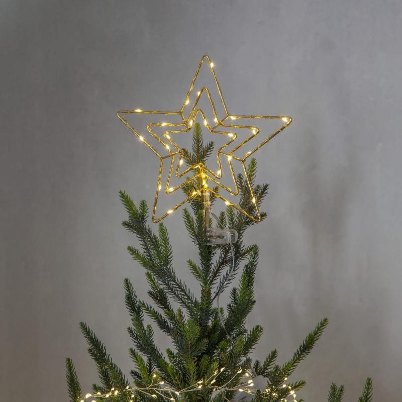 Julgransstjärna Mässing