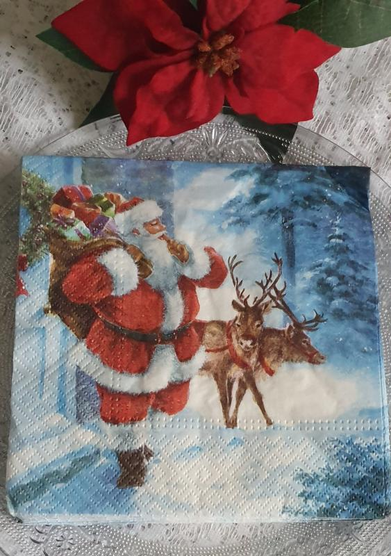 Julservetter Tomte Med Renar