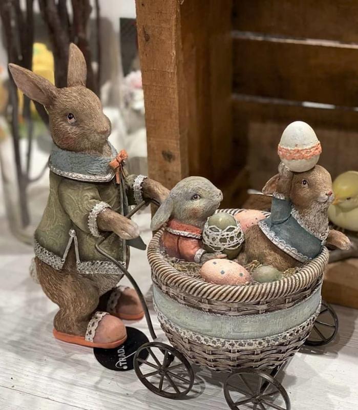 Kanin med barnvagn