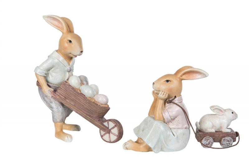 Kanin Pojke Med Kärra