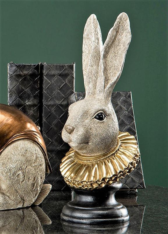 Kaninhuvud Med Krage Poly