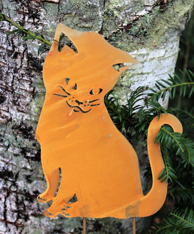 Katt Stick Tusse Sittande - Rost