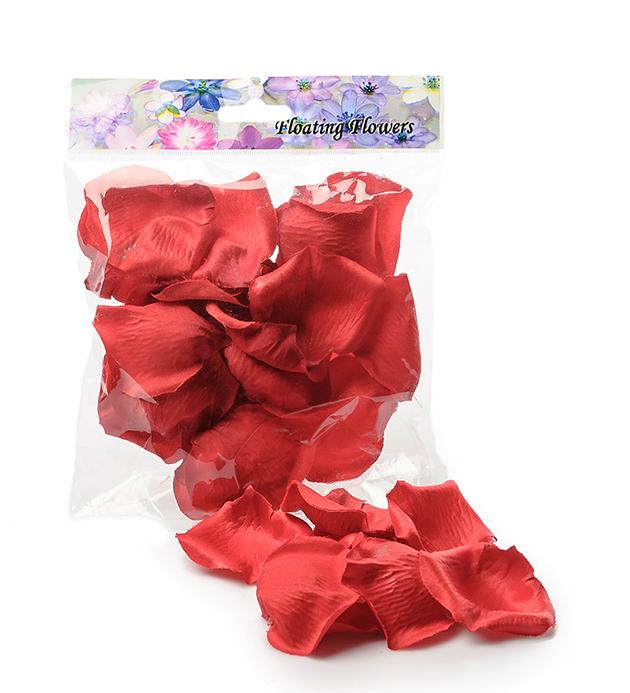 Konstgjord Rosblad Flytande - Röd