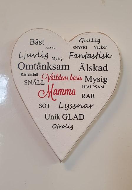 Kylkåpsmagnet Hjärta Mamma/Pappa