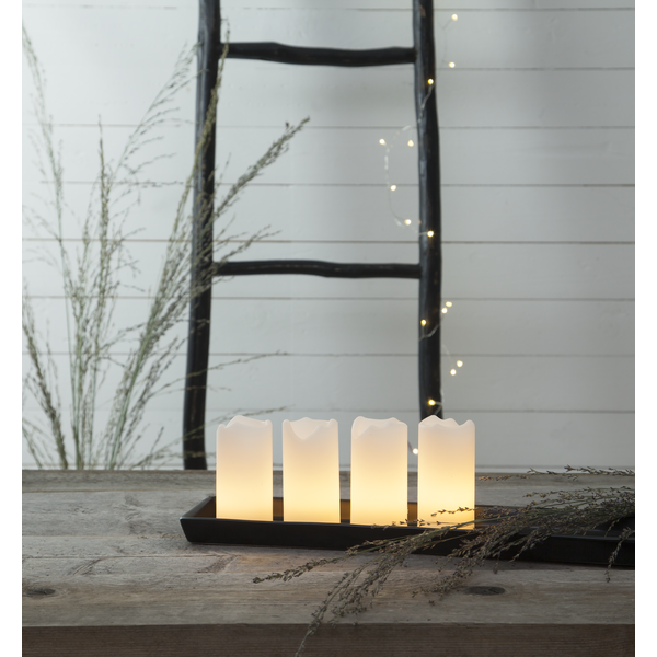 LED Blockljus 4-pack
