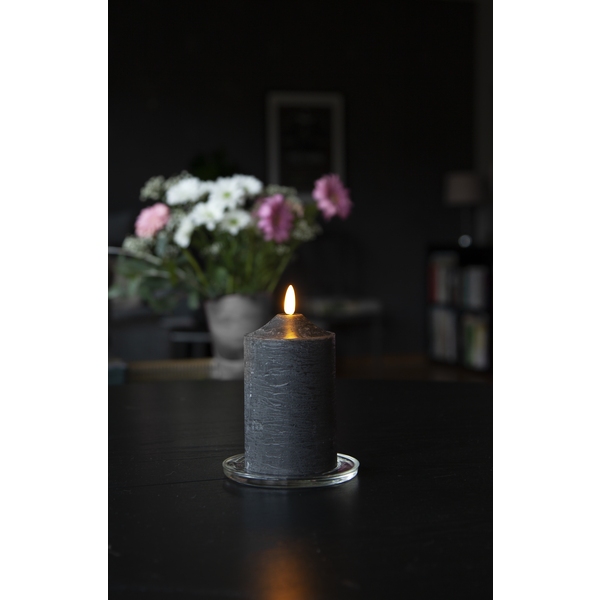 LED Blockljus Flamme - Svart