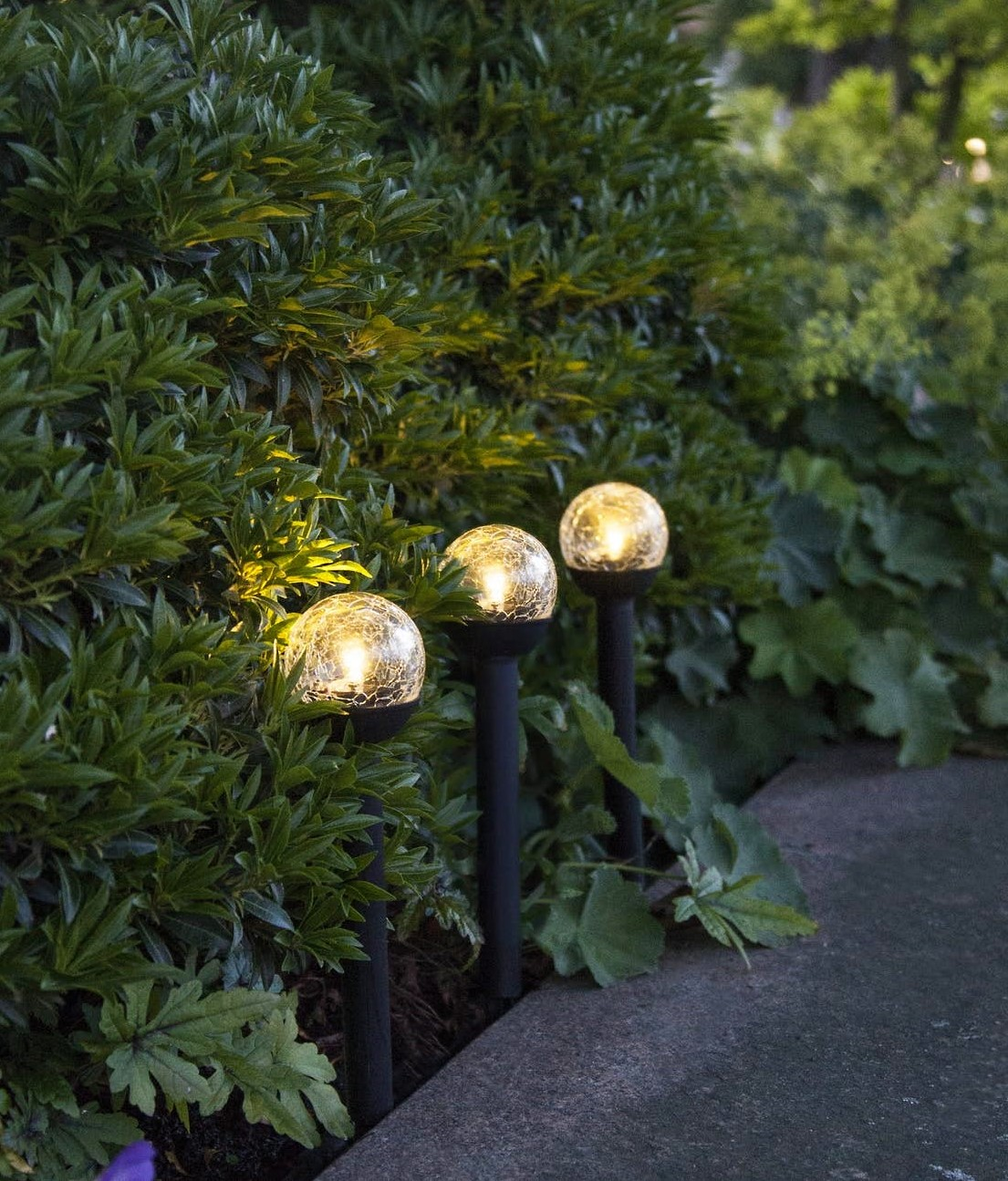 LED-solcellslampa Roma 3-pack