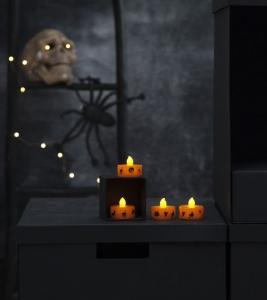 Halloween Värmeljus LED 4-Pack