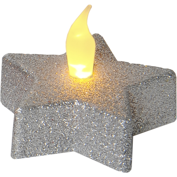 LED Värmeljus 2-pack Shine Silver